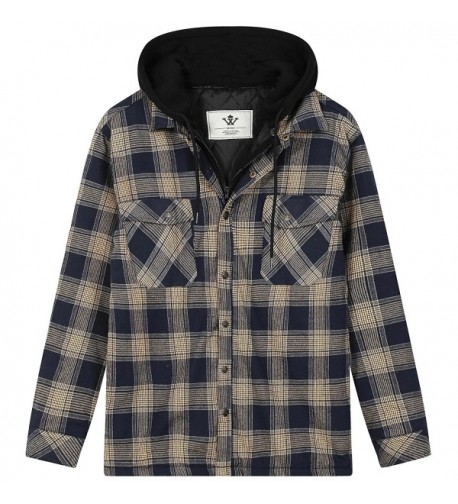 WenVen Flannel Checkerd Sleeve Tshirts