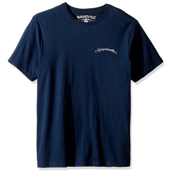 Margaritaville Mens Anchor T Shirt Black