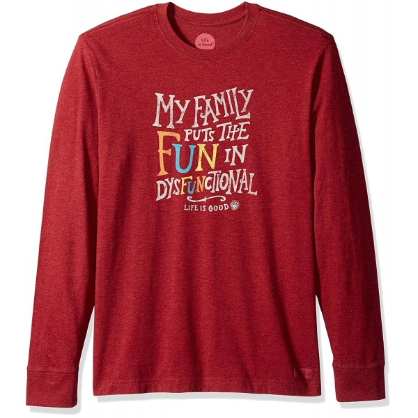 Life Crusher Dysfunctional T Shirt Cranberry