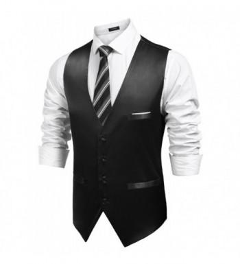 JINIDU Button Waistcoat Sleeveless Business