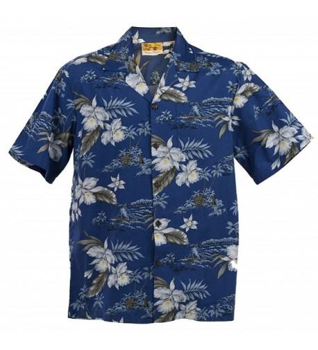 WinnieFashion Hawaiian Orchid cotton Shirt