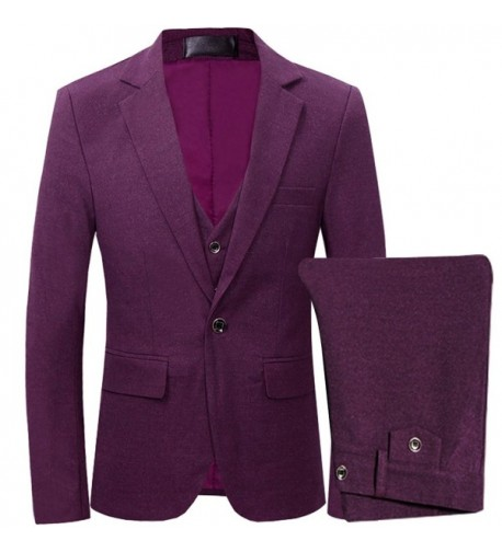 3 Piece Casual Winter Blazer Purple