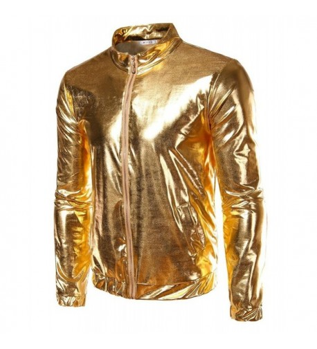 Metallic Ribbed Bomber Jacket Large
