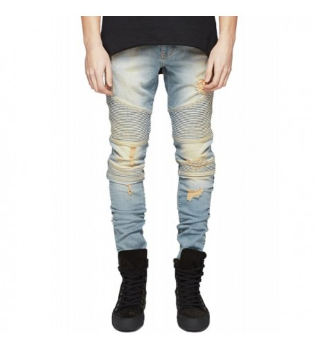 XARAZA Ripped Biker Stretchy Jeans