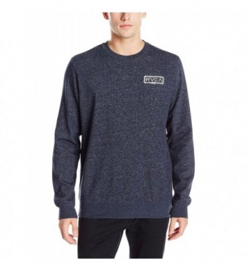 RVCA Embroidered Sweatshirt Midnight X Large