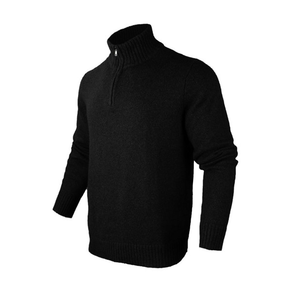 BeMoreWithLess Casual Quarter Zip Sweater Pullover