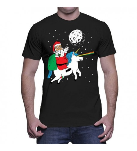 Mens Santa Riding Unicorn Christmas