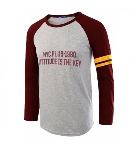 Plusart Sleeve T Shirt Casual Raglan