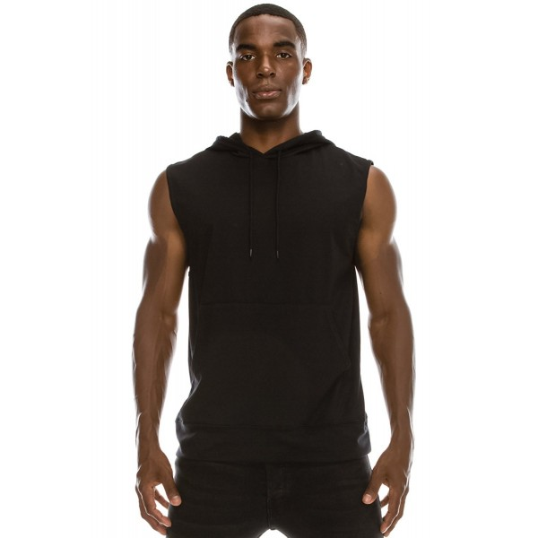 d04845e335024a Mens Hipster Hip Hop Hooded Tanktop Drawstring Hoodie Pocket (Big ...