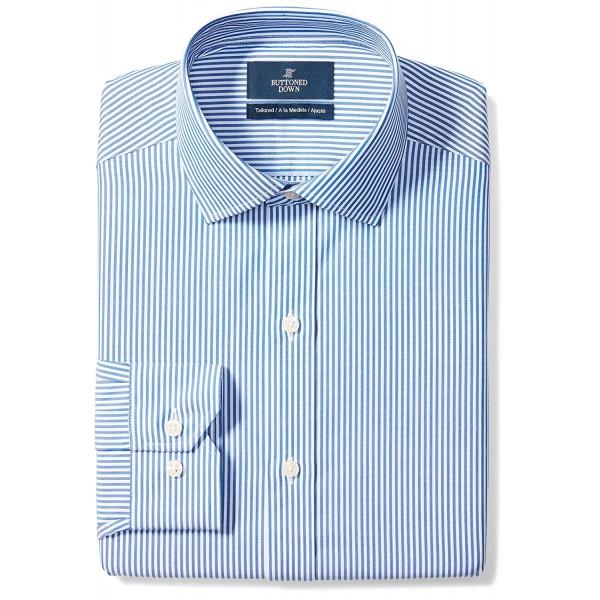 Buttoned Down Tailored Spread Collar Non Iron