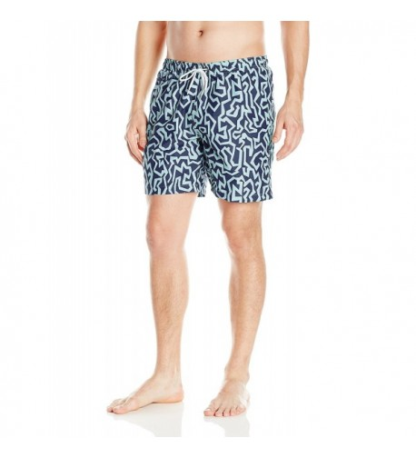 Trunks Mens Pattern Marine X Large