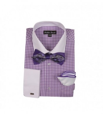 Checks Fashion Bowtie Handkerchief Lavender
