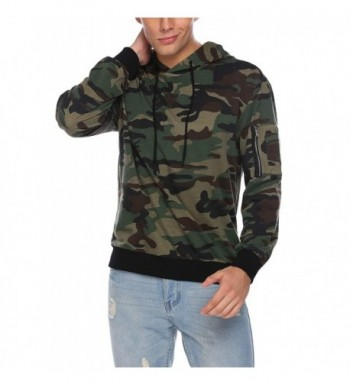 Coofandy Pullover Hoodie Camouflage Sweatshirts
