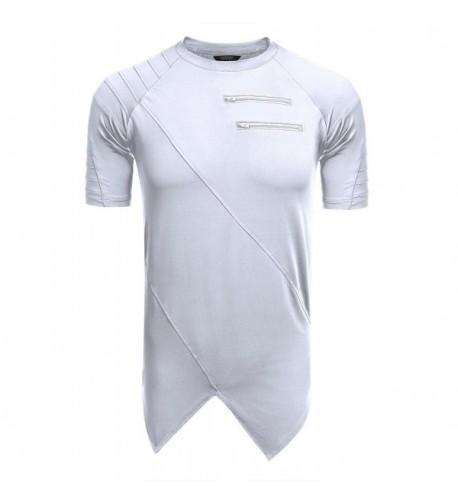 COOFANDY Fashion Sleeve Irregular T Shirt