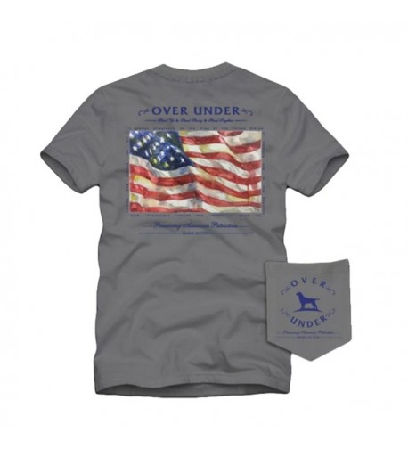 Over Under Patriotism Sleeve Tee Large