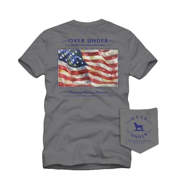 Over Under Patriotism Sleeve Tee Large