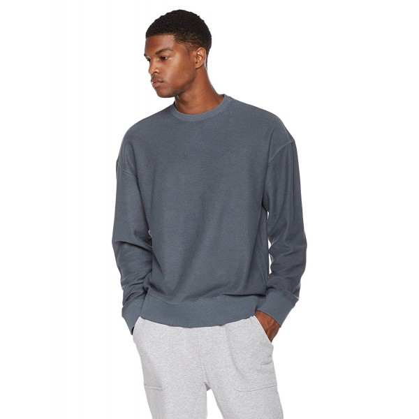 online store 2194e eaa37 Young Men's Reverse French Terry Oversize Fit Pullover Sweatshirt - After  Wash Indigo - CO185QDQ843