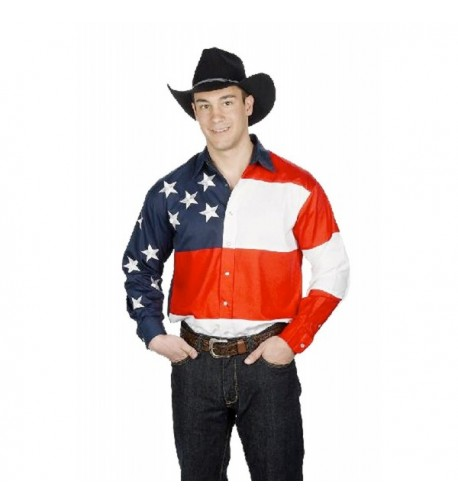 Cotton Stars Stripes Western Shirt