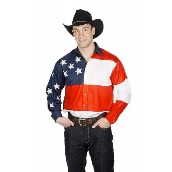 Cotton Stars Stripes Western Shirt