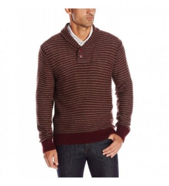 Haggar Intarsia Sweater Burgundy X Large