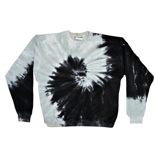 Colortone Tie Sweatshirt Spiral Black