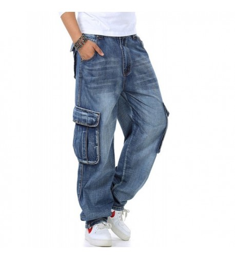 Yeokou Casual Loose Denim Pockets