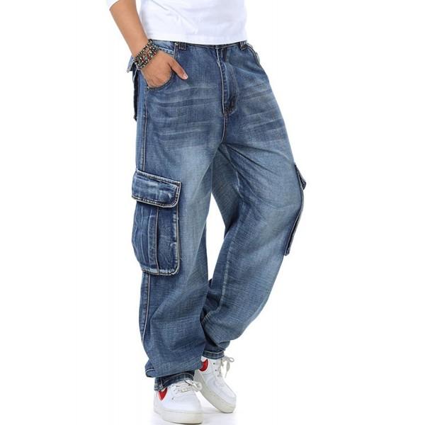 Yeokou Casual Loose Denim Pockets