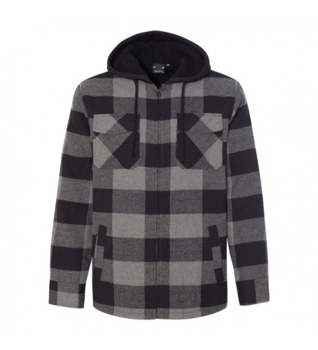 Burnside Quilted Flannel Full Zip Hooded