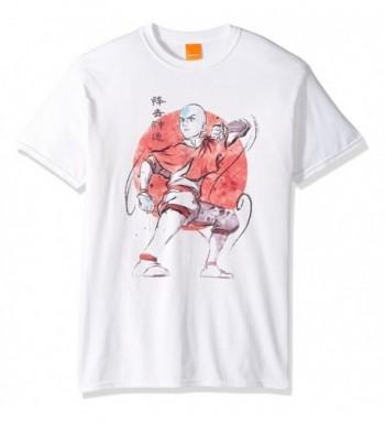 Nickelodeon Mens Background T Shirt White