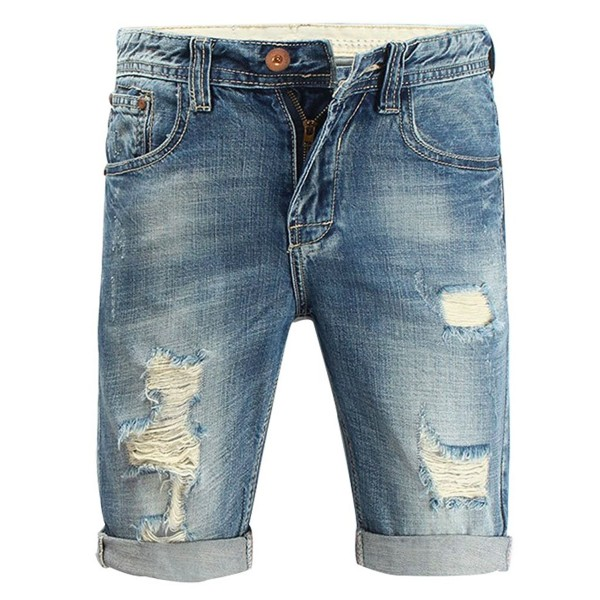 Myncoo Ripped Shorts Distressed Washed