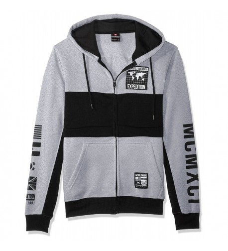 Southpole Sleeve Hooded Fullzip Heather
