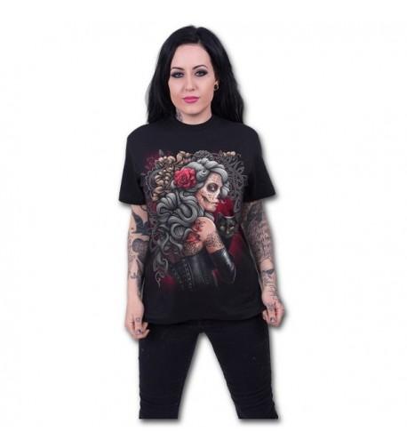 Spiral Womens Tattoo Front T Shirt