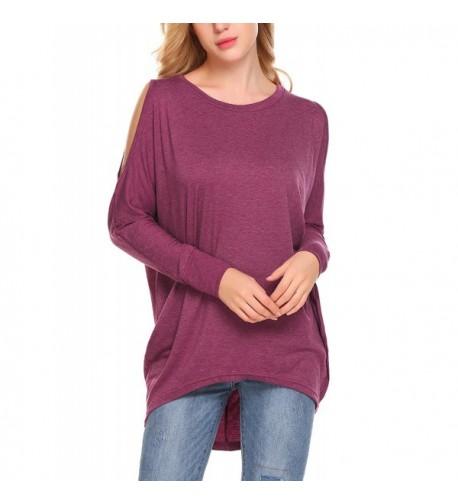 Shoulder Oversieze Pullover Sweatshirt Purplish