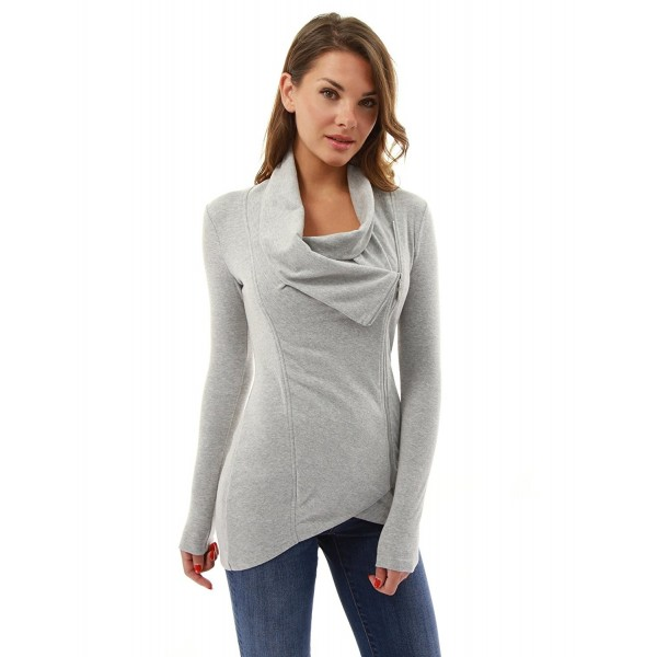 PattyBoutik Womens High low Pullover Heather
