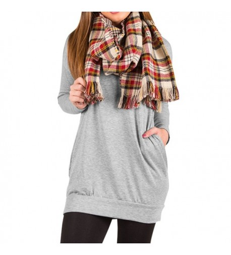 Kisscy Womens Sleeve Patchwork Sweatshirt