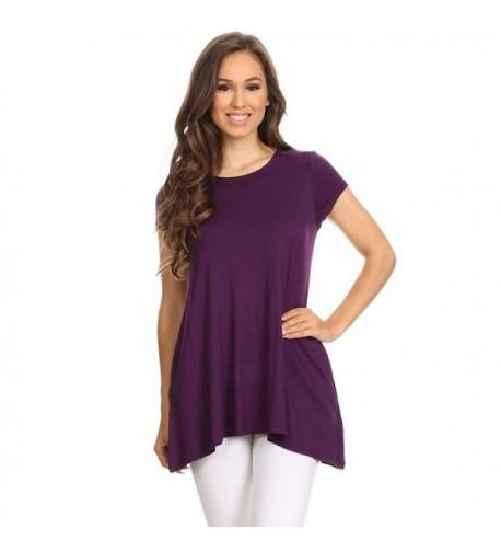 Womens Solid Short Sleeve Pocket