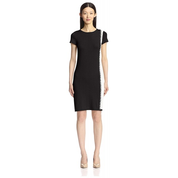 ... Women s Whipstitch Color Block Dress - Black White - CR120PDQY0N.  SOCIETY NEW YORK Womens Whipstitch 41b53a4150