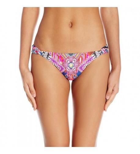 PilyQ Womens Fanned Bikini Bottom