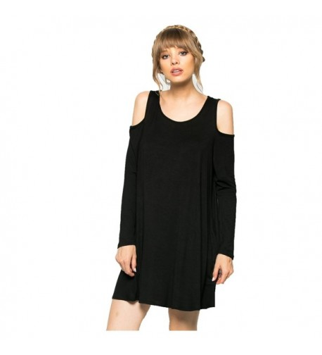 My Clothing Womens Sleeve Cold Shoulder
