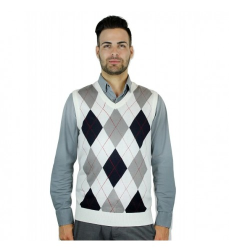 Blue Ocean Argyle Sweater Vest Medium