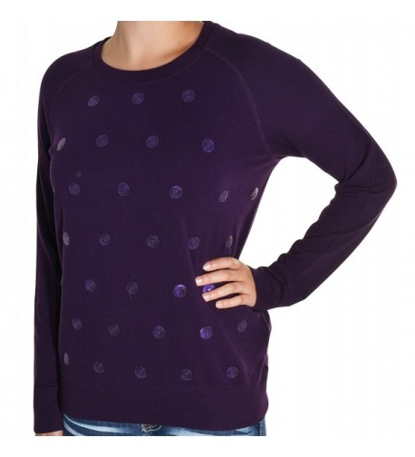 Kersh Embellished Pullover Sweatshirt Purple