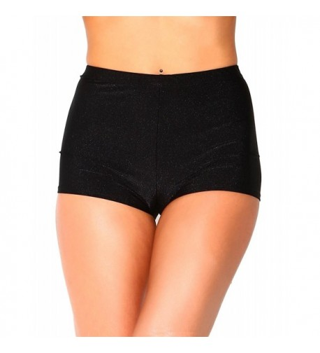 iHeartRaves Solid Black Waisted Shorts
