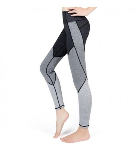 Pants Compression Workout Running Leggings M Lesfun