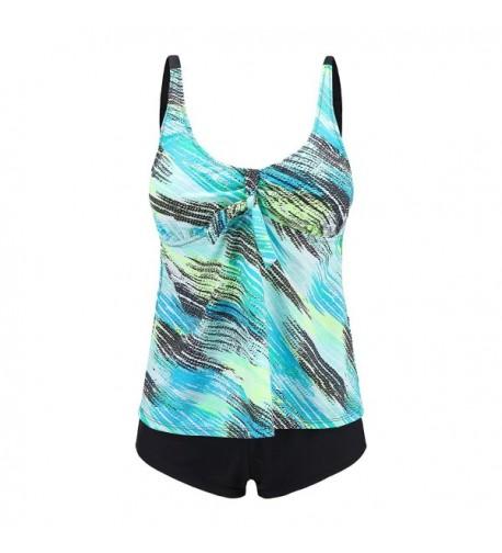 Ladies Oceanic Stripes Swimsuit Tankini