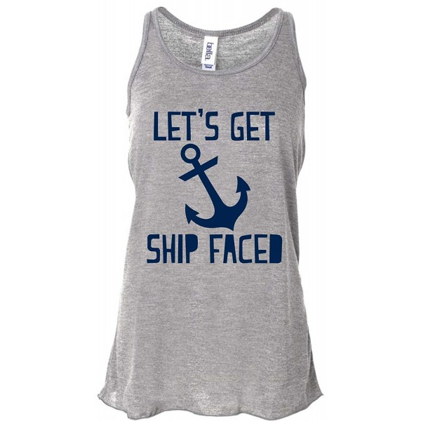 3ccac1b38 Let's Get Ship Faced Funny Cruise Drinking T-Shirt/Tank Top - Ladies ...