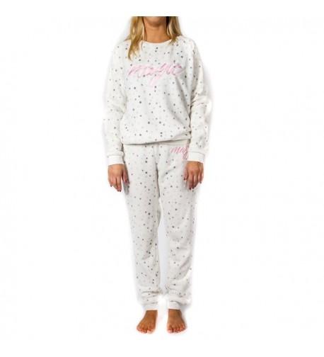 Dots Dreams Womens Fleece Pajama