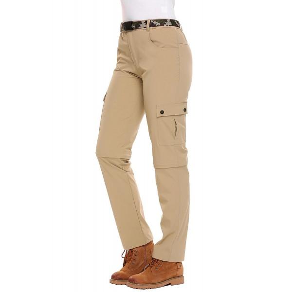 ... Cargo Pants Quick Dry Removable Hiking Pants - Khaki - CD1862NMGDM.  Zeagoo Womens Waterproof Convertible Removable e2ee00261