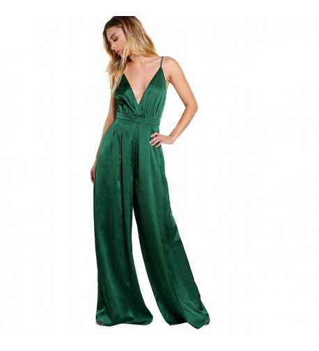 Verdusa Sleeveless Surplice Pleated Jumpsuit