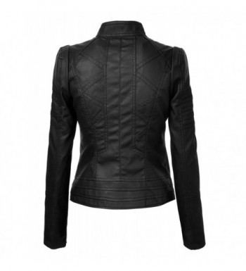 2018 New Women's Leather Coats Outlet Online