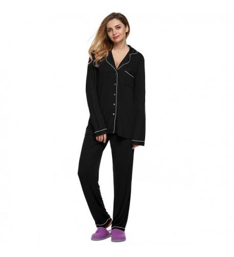 Jingjing1 Pajamas Sleepwear Loungewear Button Up